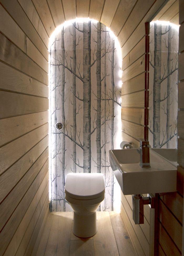 ▷ 1001 + idées | Deco toilettes originales, Murs en bois et Deco nature