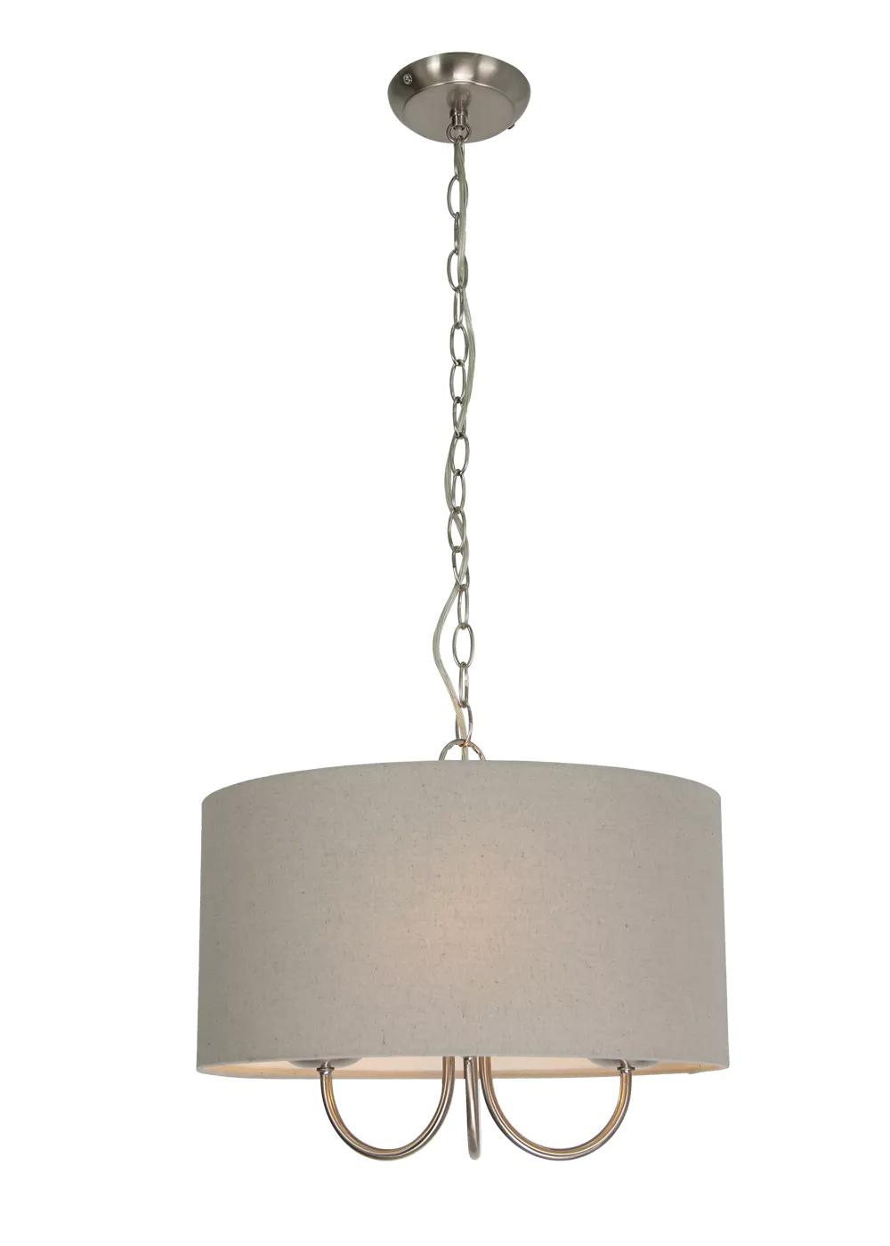 Enid Shadelier Easy Fit Lamp Shade H80cm X W40cm Light Grey Lamp Shade Light Lamp
