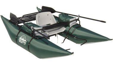 Creek company sport lt pontoon boat at cabela 39 s for Cabela s fishing boats