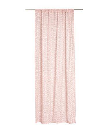 Leuke gordijnen in pastel roze met visgraadpatroon van H&M ...