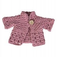 Puppenkleidung, Jacke, pink