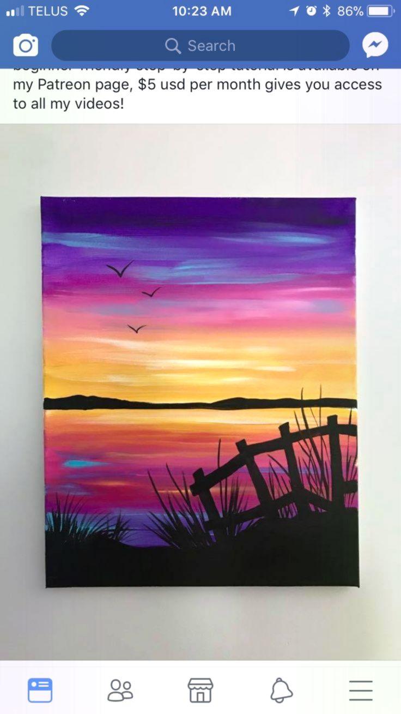 Pin Von Ali Delch Auf Malerei Sonnenuntergang Malen
