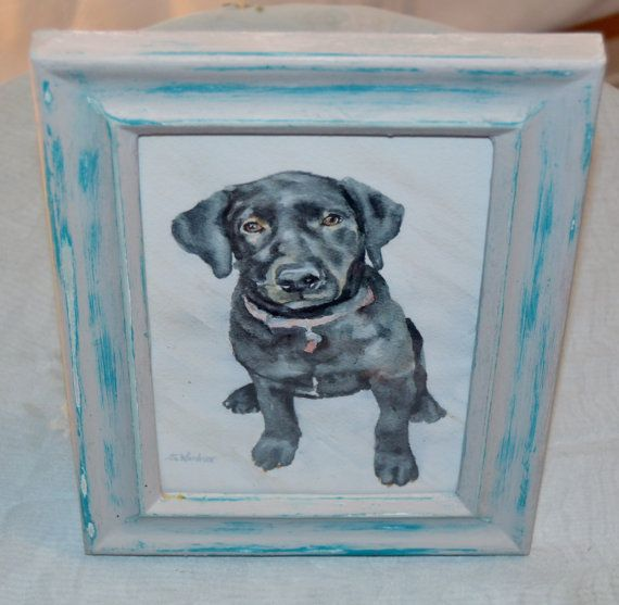 Chalk painted picture frame Distressed - 5 x 7 picture frame - Used Chalk paint peacock and Silver lining - Used wax