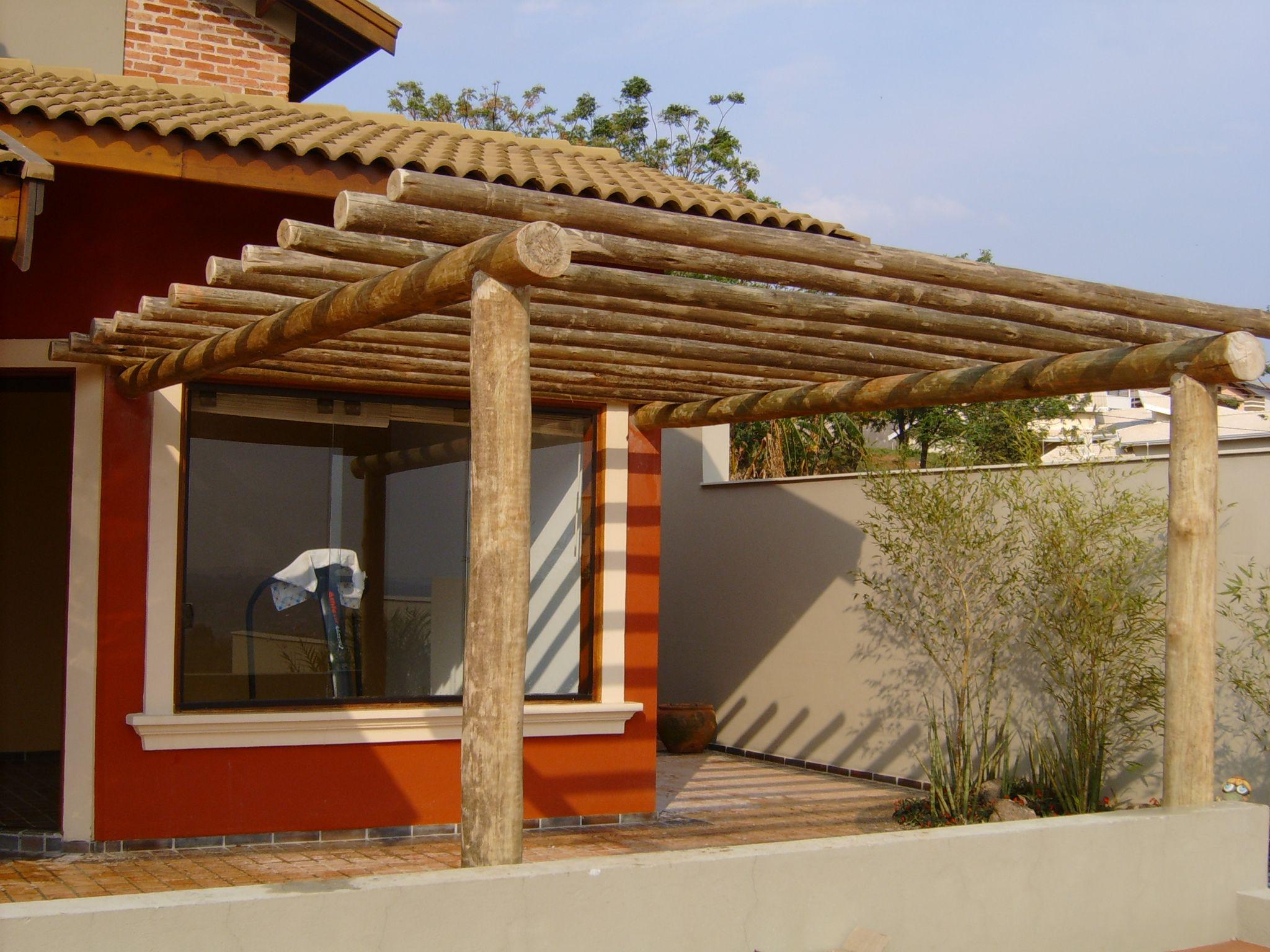 Pergolado em eucalipto cobrire p rgola pergolado - Pergola bambu ...