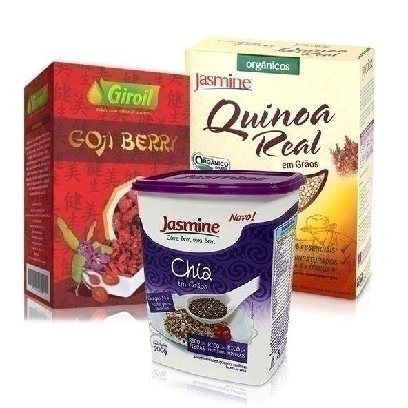 Goji berry, Quinoa em Grãos Orgânica e Chia em Grãos - Nutrientes interessantes  Direto da Natue. Compre agora! http://bit.ly/GojiNatue