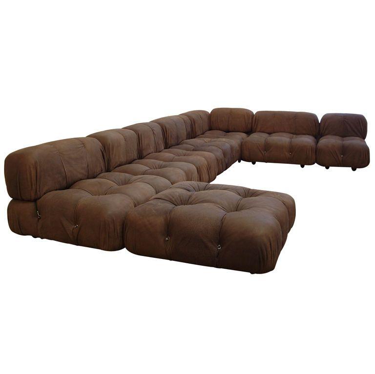 1970s Velvet Modular Sectional Sofa Velvet Sectional Modular Sectional Sofa Sectional Sofa