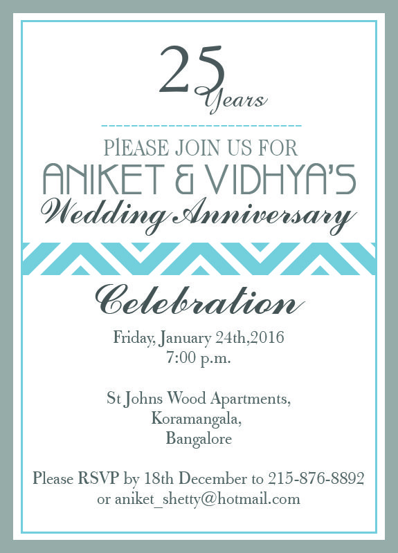 Official 25th wedding anniversary invitation from inviteonline official 25th wedding anniversary invitation from inviteonline stopboris Gallery