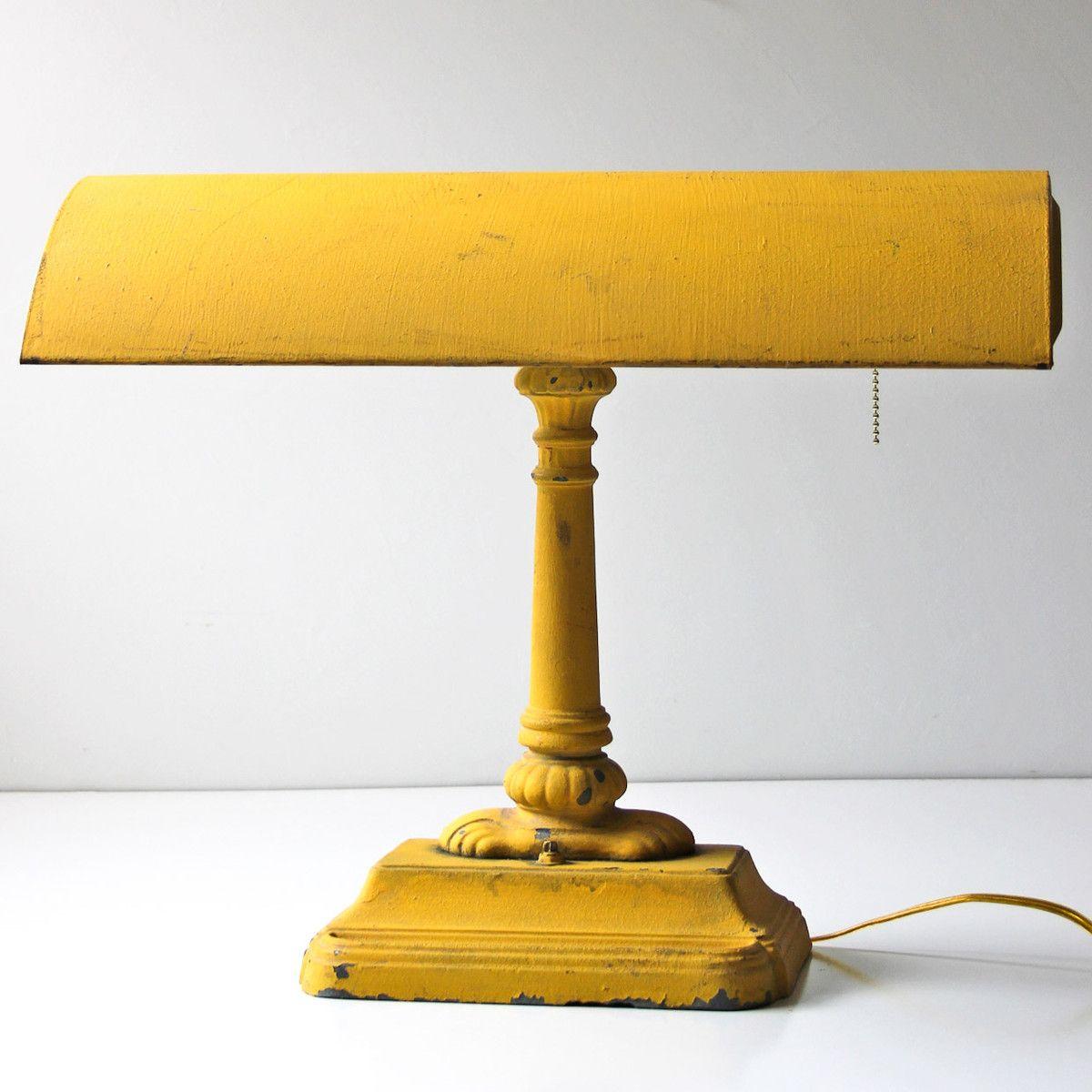 Table lamp yellow from modish vintage decor pinterest