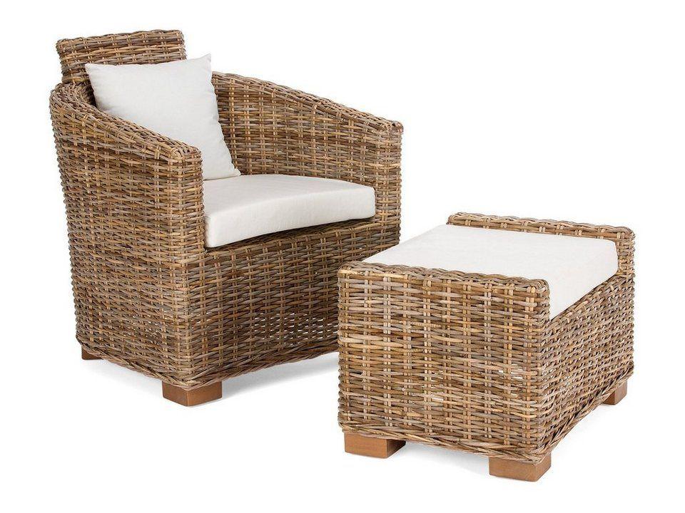 massivum Sessel aus Kubu-Rattan »Namsos«