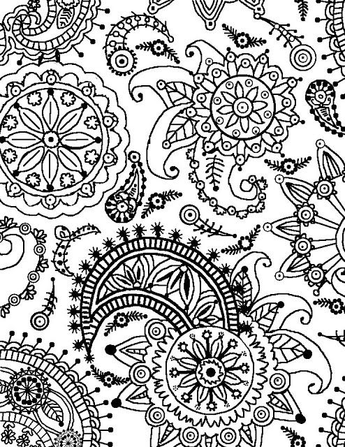 flowers and paisley coloring pages paisley flower pattern portrait