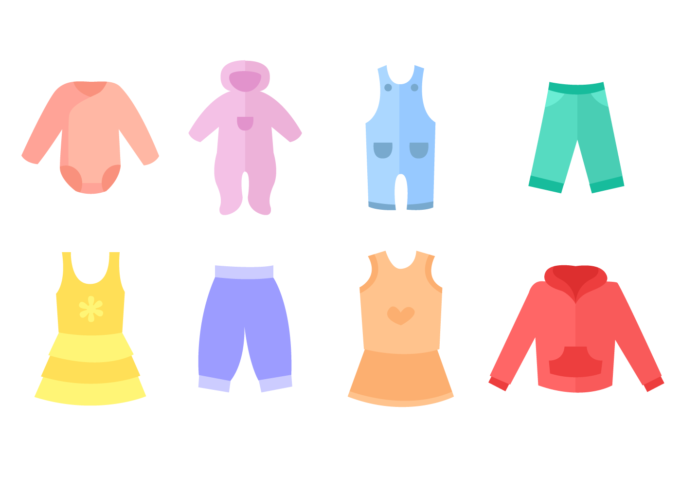 Free Baby Clothes Vector Png 1400 980 Free Baby Clothes Free Baby Stuff Vector Free