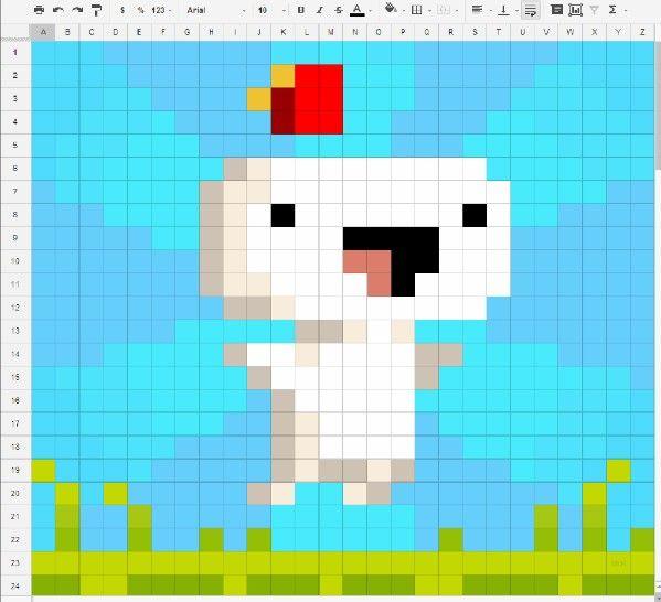 Awesome Fez Fan Art Made On A Spreadsheet Pixel Art Art Fan Art