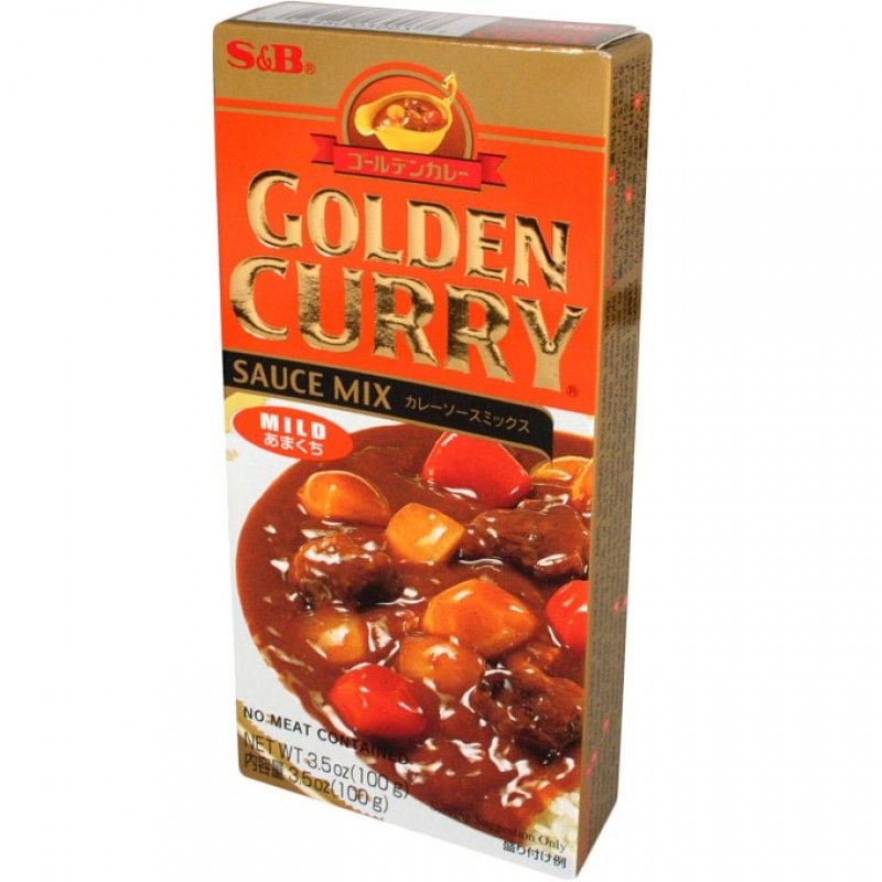S B Golden Curry Mild 3 5 Oz Golden Curry Curry Chinese Stir Fry Sauce