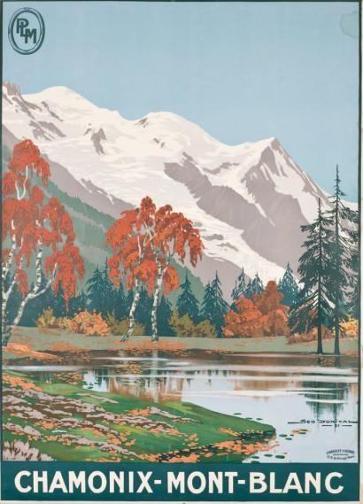 Geo DORIVAL PLM CHAMONIX - MONT-BLANC 1921 Imprimerie Cornil