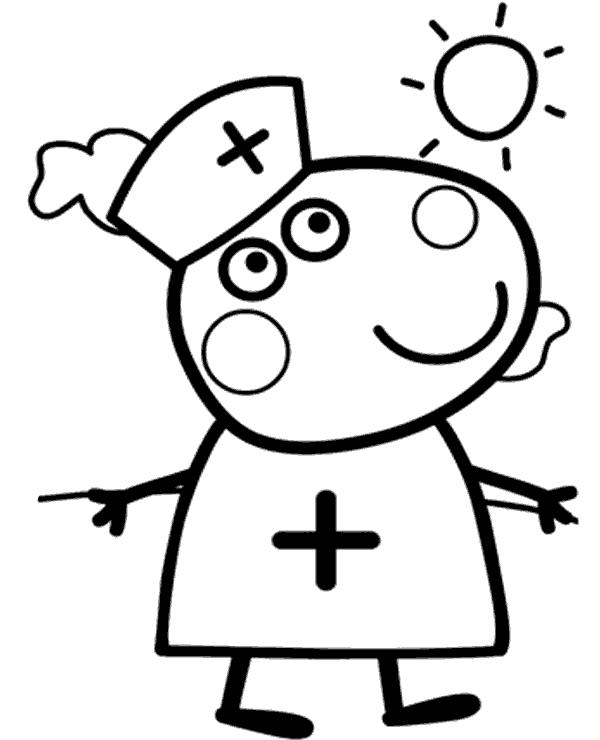Peppa Coloring Page 10 Png 600 740 Peppa Pig Coloring Pages Peppa Pig Colouring Peppa Pig Drawing