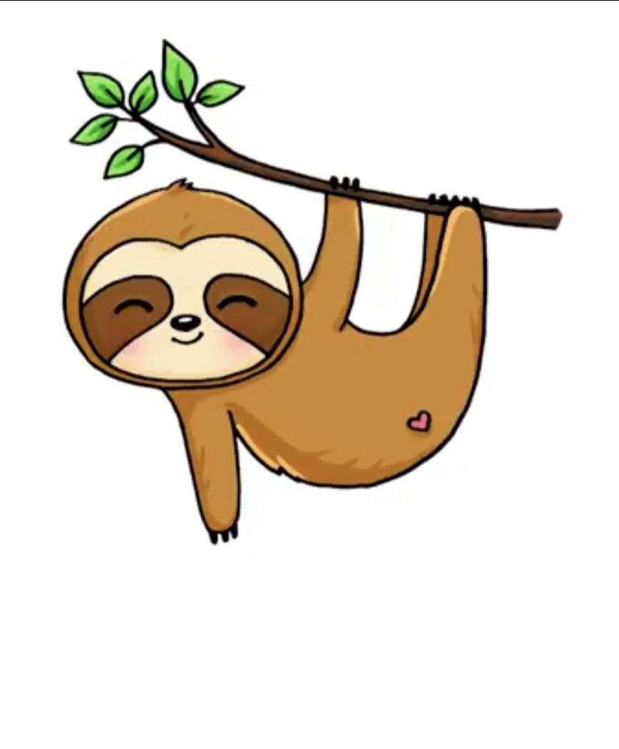 Pin By Stevilyn Taggart On Draw So Cute Baby Animal Painting Sloth Drawing Cute Animal Drawings