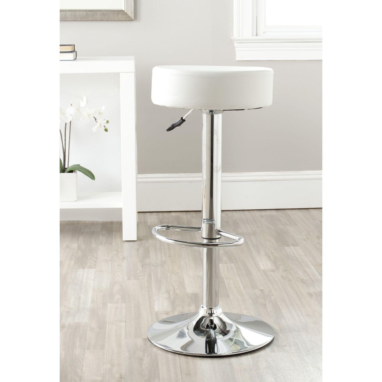 Strange Safavieh Jute White Adjustable Height Swivel Bar Stool Lamtechconsult Wood Chair Design Ideas Lamtechconsultcom