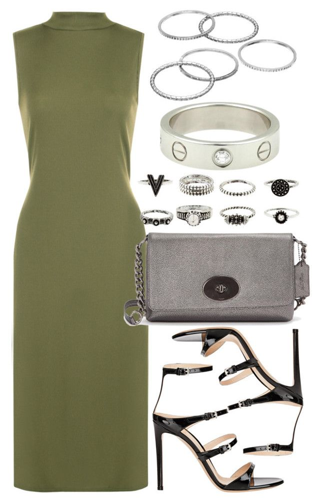 """""""Untitled #4182"""" by style-by-rachel ❤ liked on Polyvore featuring WearAll, Gianvito Rossi, Coach, Apt. 9 and Cartier"""