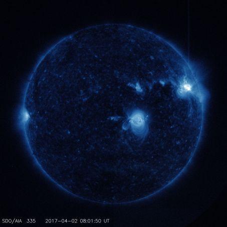trois éruptions solaires se sont produites les 2 et 3 avril un soubresaut avant le calme