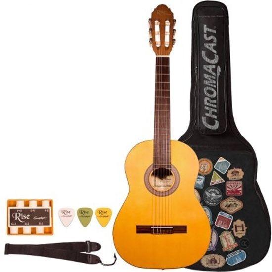 Star Acoustic Guitar 38 Inch Tuner Strings Picks Beginner Guide Blueburst Bag