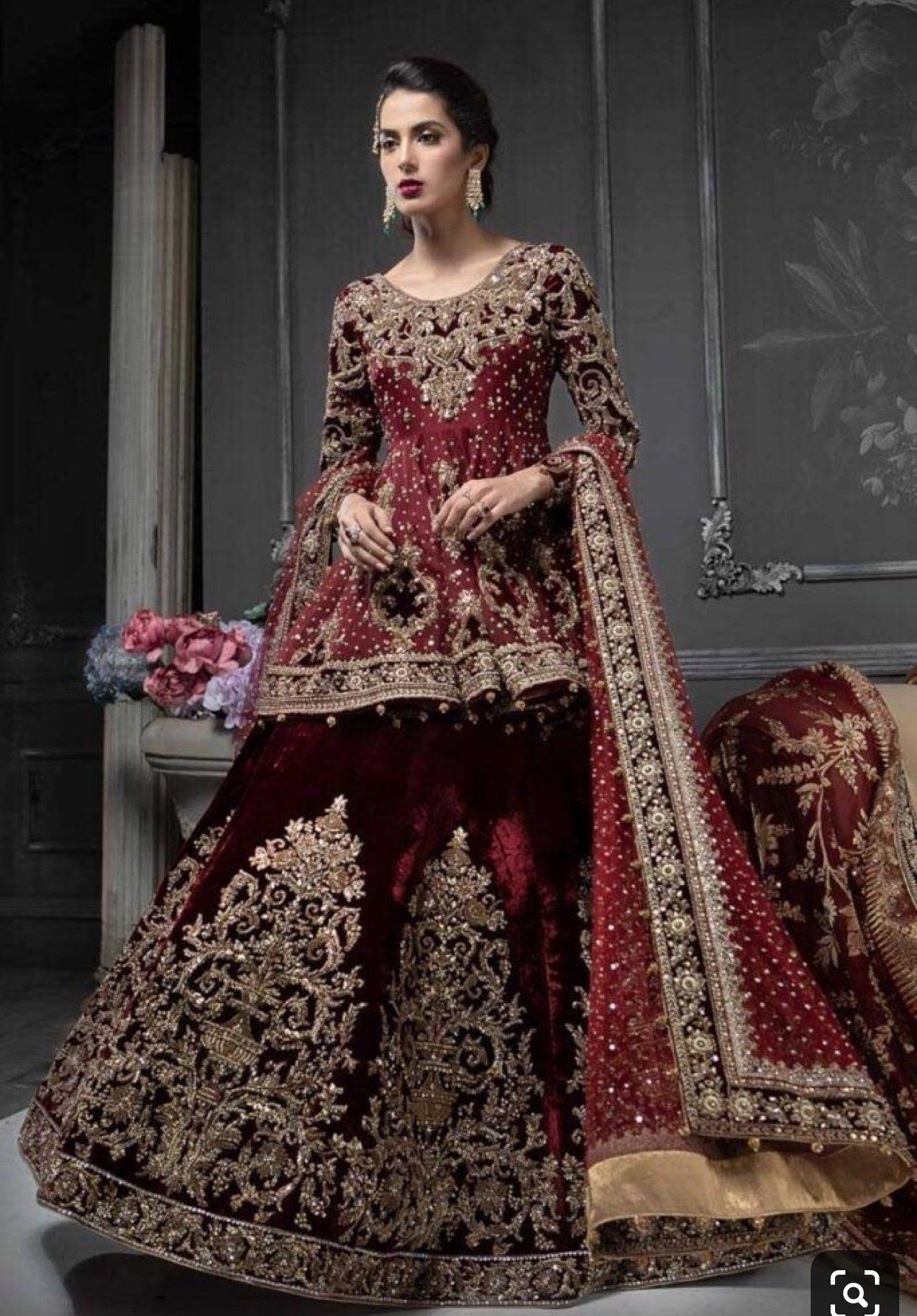 Indian Bridal Ghagra Choli In Beautiful Maroon Red Color Model B 1797 Bridal Dresses Pakistan Red Bridal Dress Pakistani Bridal Dresses [ 1783 x 1242 Pixel ]