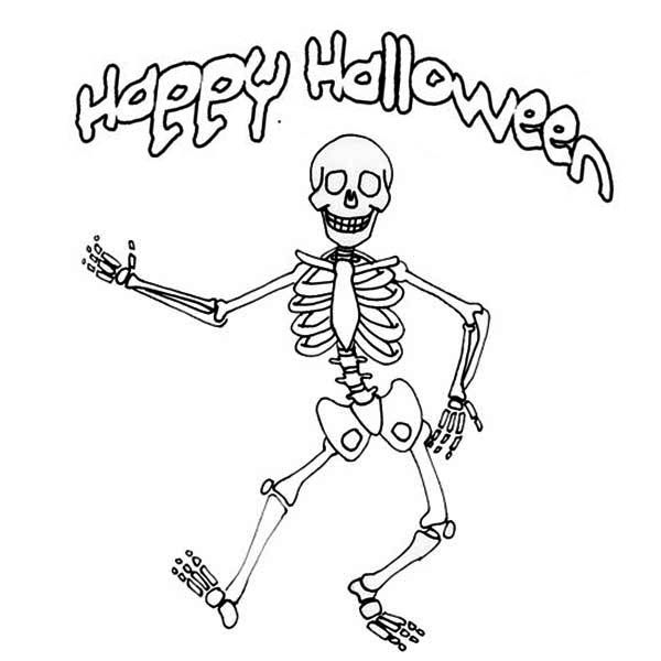 skeleton - Halloween Skeleton Coloring Pages