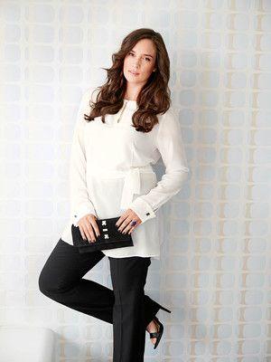 burda style, Schnittmuster - weiße Bluse, kragenlos, mit kleinem ...