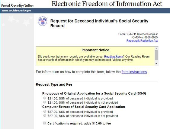 Guide to Using Social Security Administration Records #genealogy - social security request form
