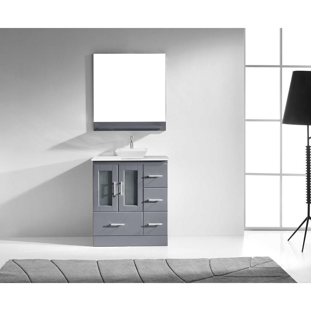 Virtu usa zola in w x in d vanity in grey with engineered