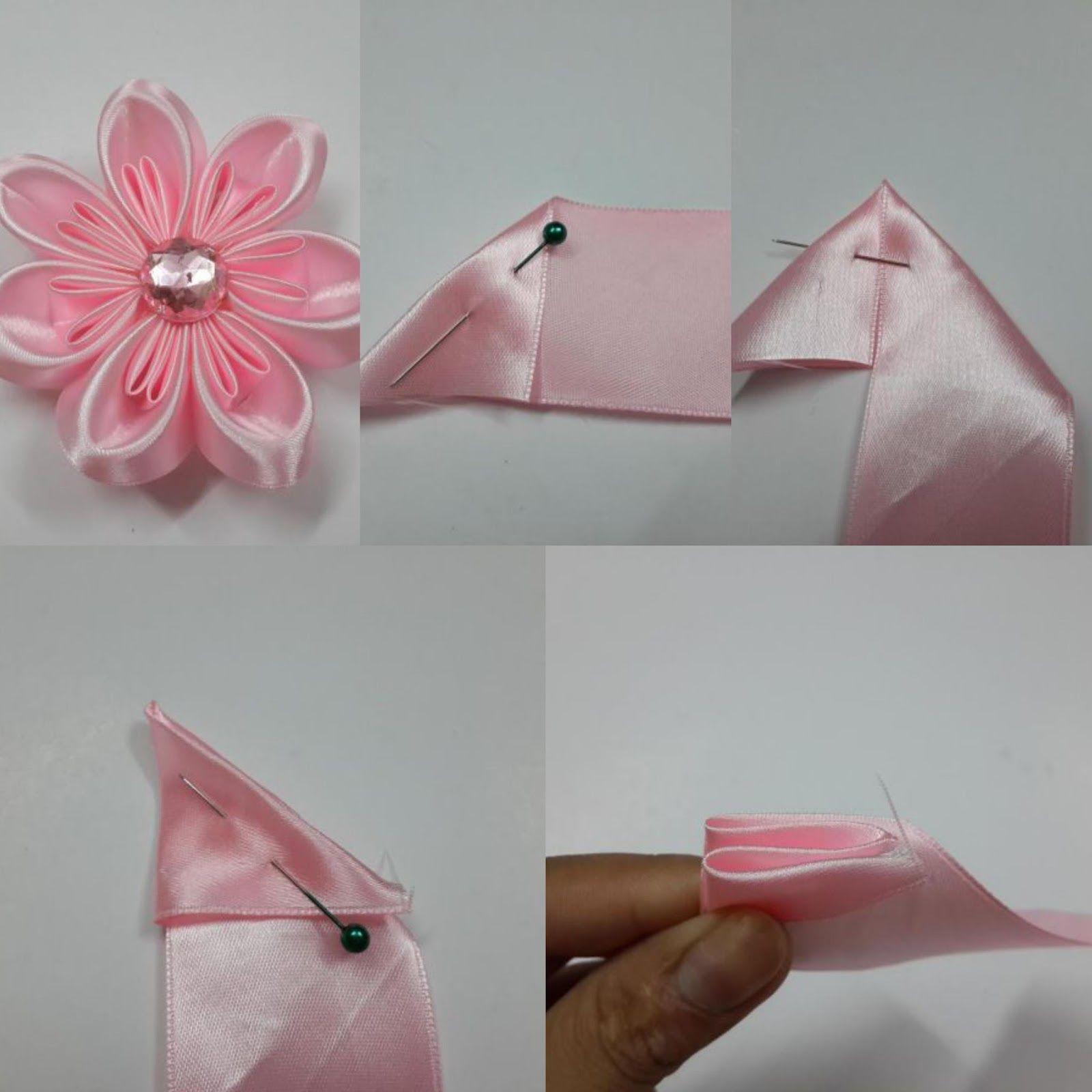 Cómo Hacer Seis Modelos De Flores Con Cinta De Raso Flores De Cinta Cintas De Raso Hacer Flores Con Cintas