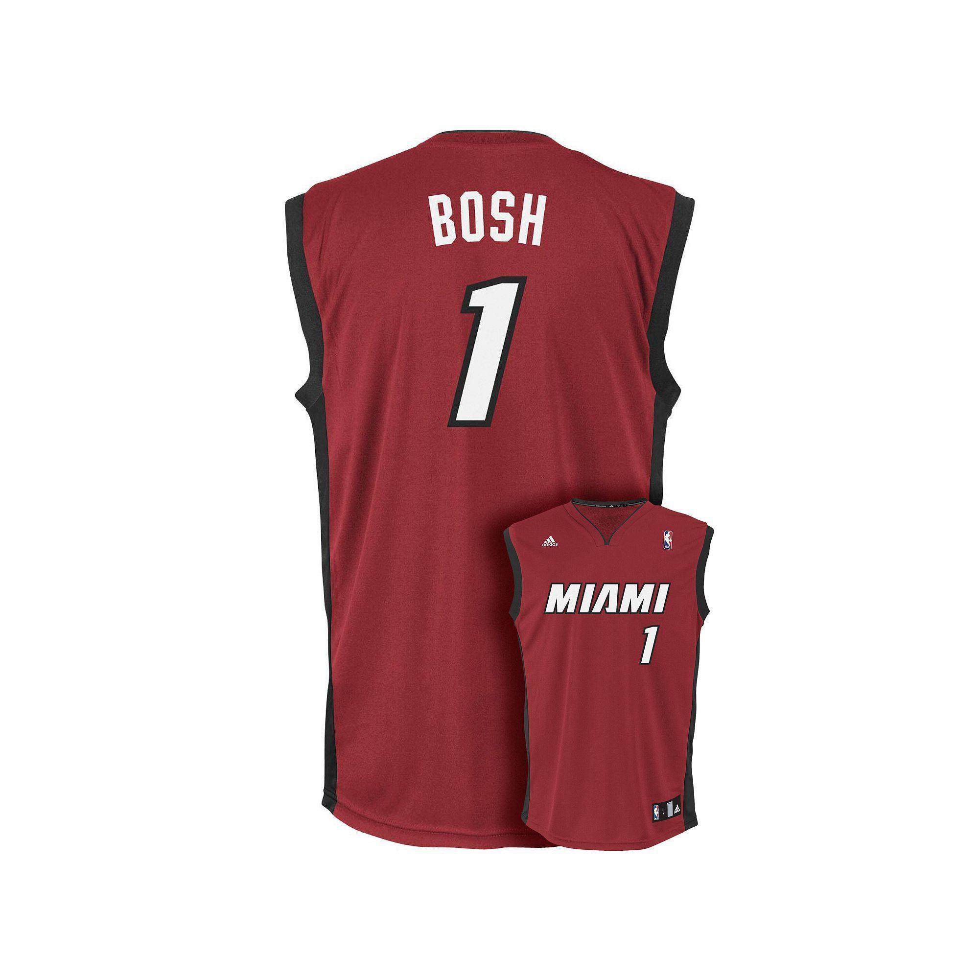 super popular bfbbd 5b990 adidas Miami Heat Chris Bosh NBA Replica Jersey - Boys 8-20 ...