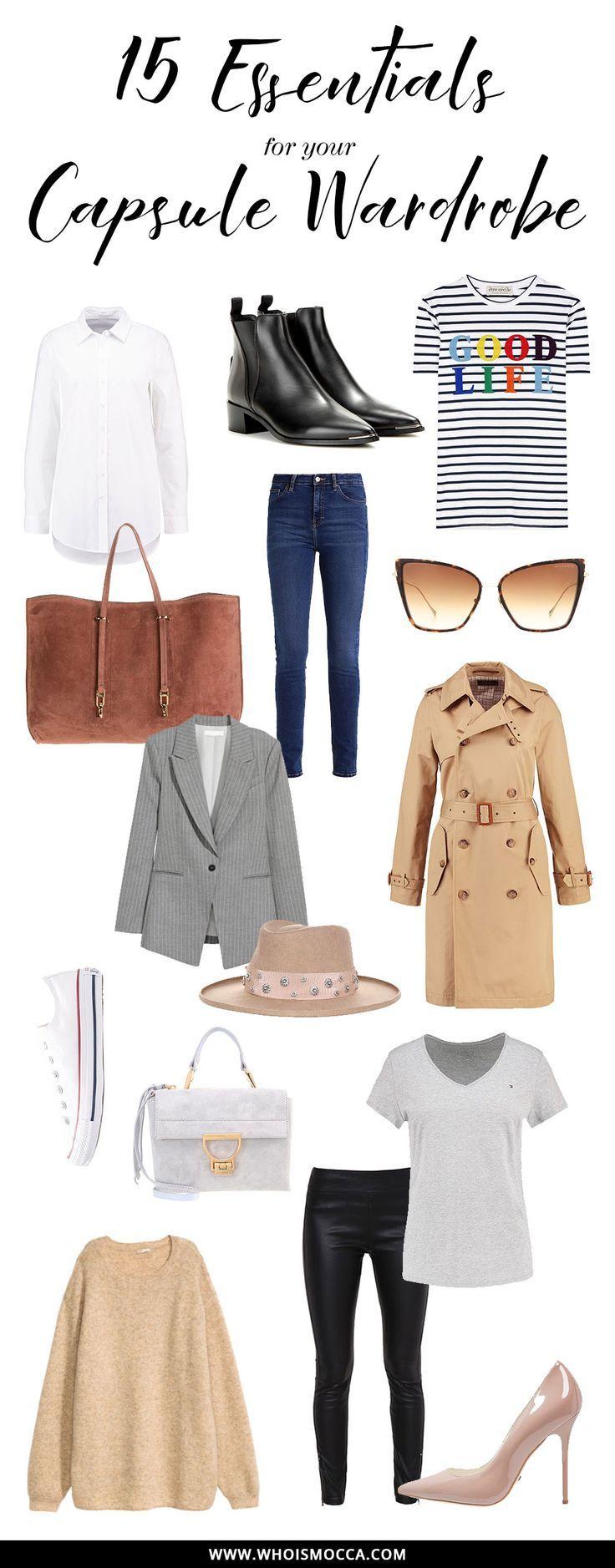 Kleiderschrank Basics 15 Must Haves Und Wardrobe Key Pieces Kein