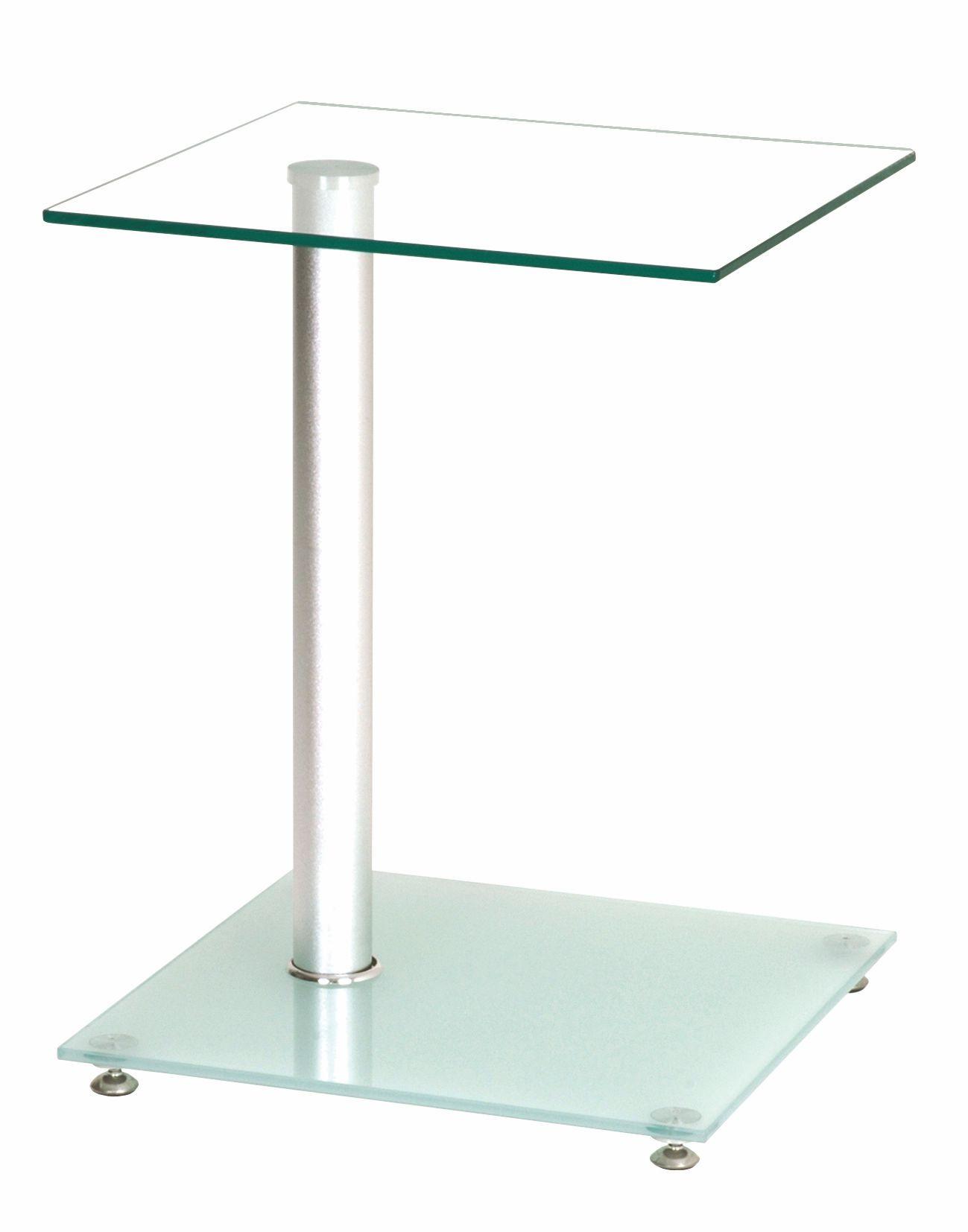 Beistelltische Modern beistelltisch milch klarglas woody 191 00087 silber modern jetzt