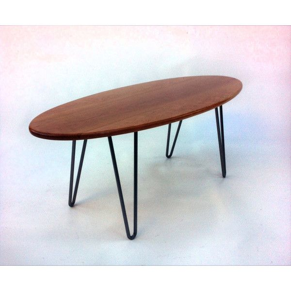 Solid Cherry Surf Board Elliptical Mid Century Modern Coffee Table 560 Liked On Polyv Mid Century Modern Coffee Table Modern Coffee Tables Coffee Table
