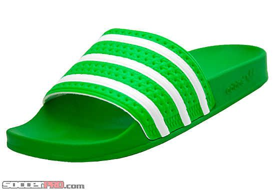 85e81a656f29 Perfect for great weather! adidas adilette Sandal Intense Green with White...get  it at SoccerPro!