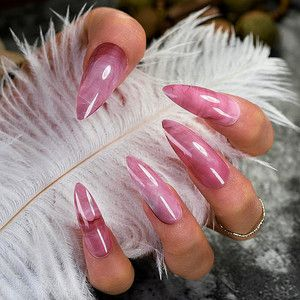 long marble stiletto press on nails stiletto nails  long