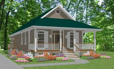 Details about Custom Small House Home Building Plans 2 bed Cottage1170 sf PDF file