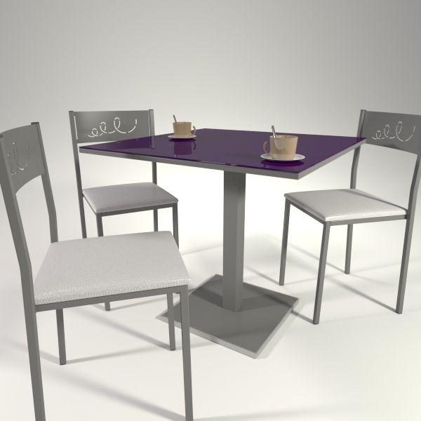 Mesas y sillas de cocina. mesa modelo low con cristal en color ...