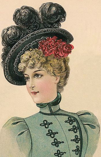Ladies Carriage Hat September 1898 Victorian Hats