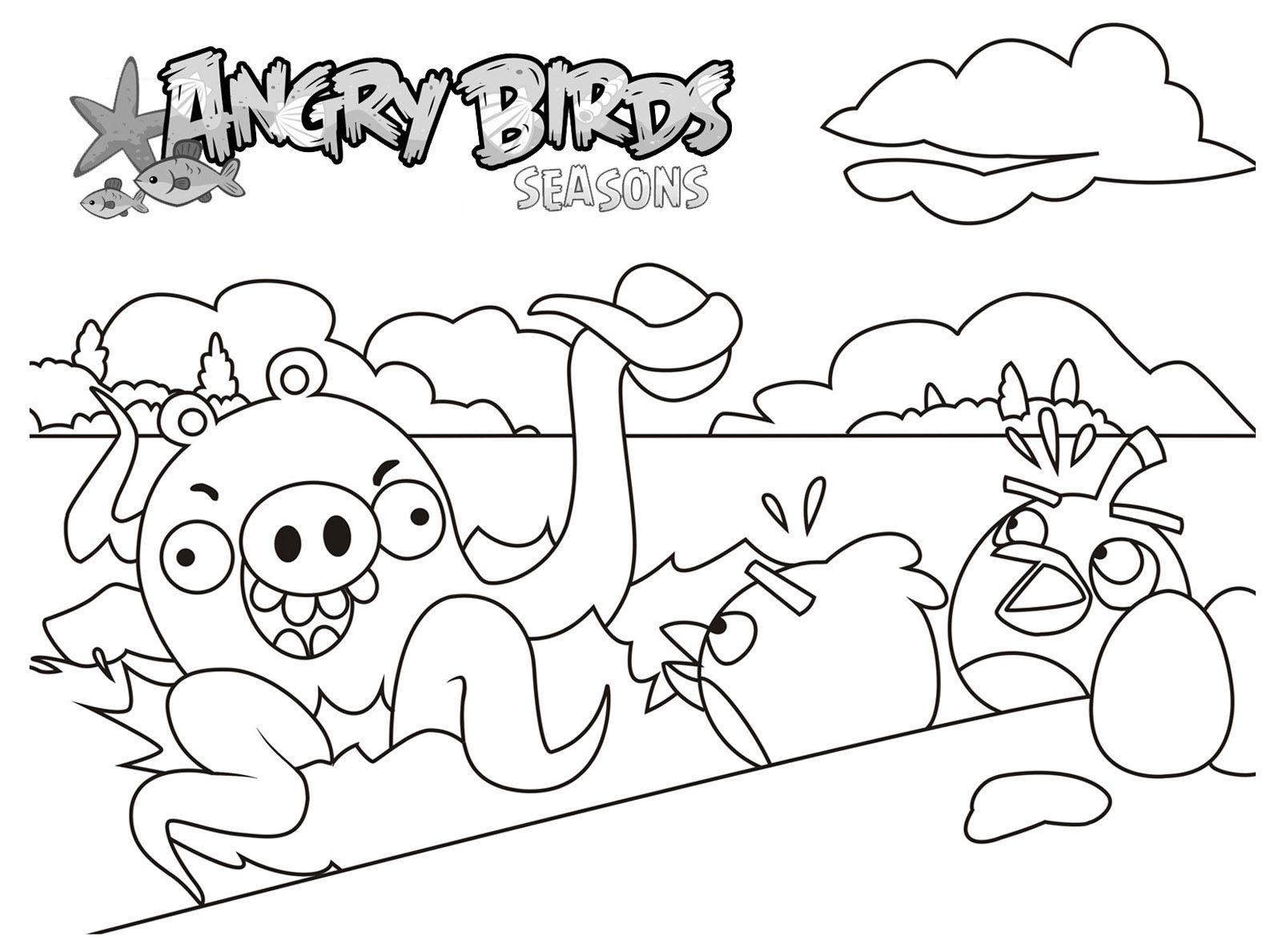 dessin de coloriage de Angry Birds | Les dessins et les coloriages à ...