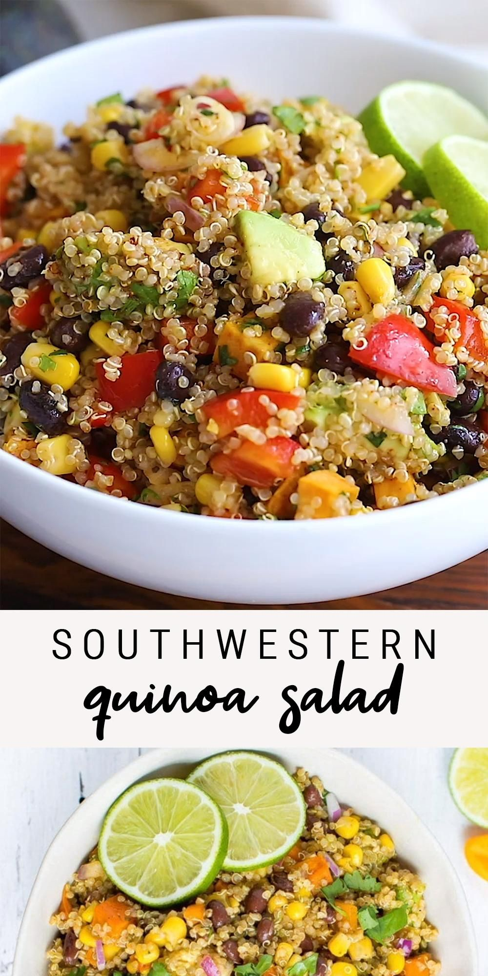 Easy Healthy Southwest Quinoa Salad | Vegan Recipe