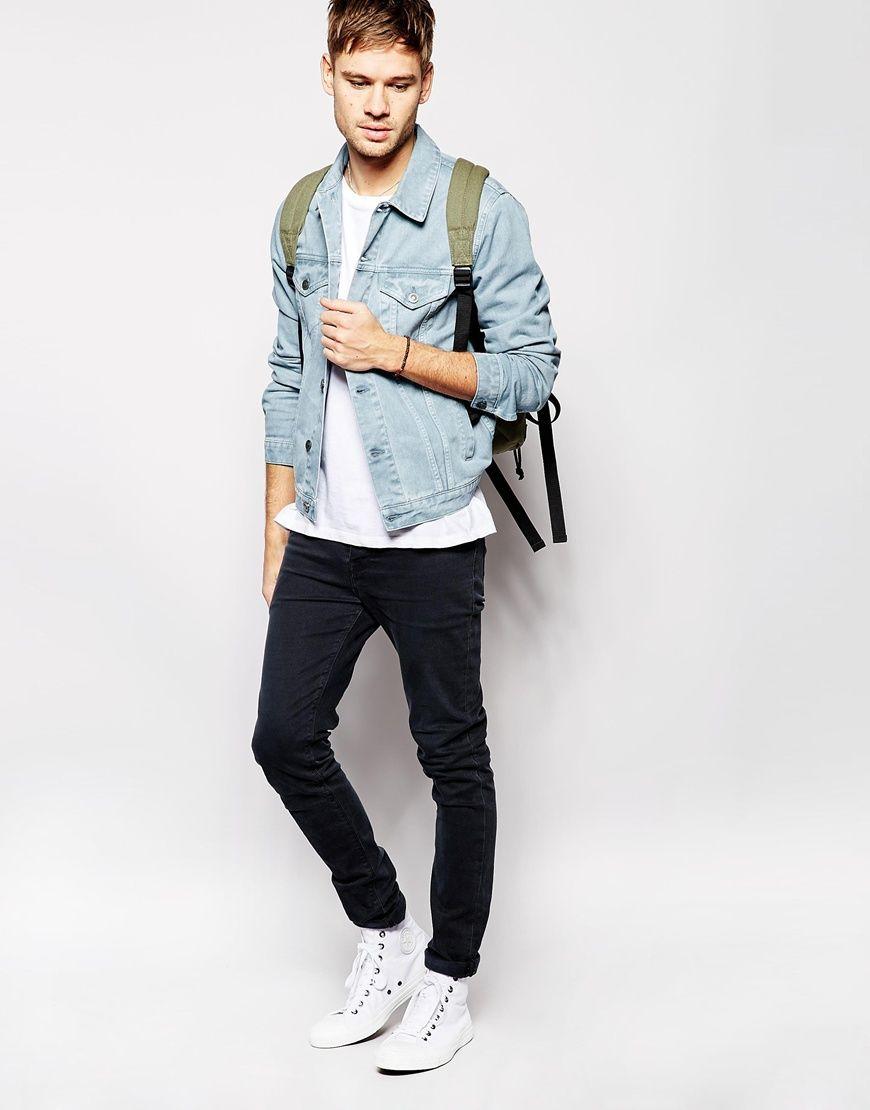 Image 4 of ASOS Denim Jacket In Slim Fit | Hack | Pinterest ...