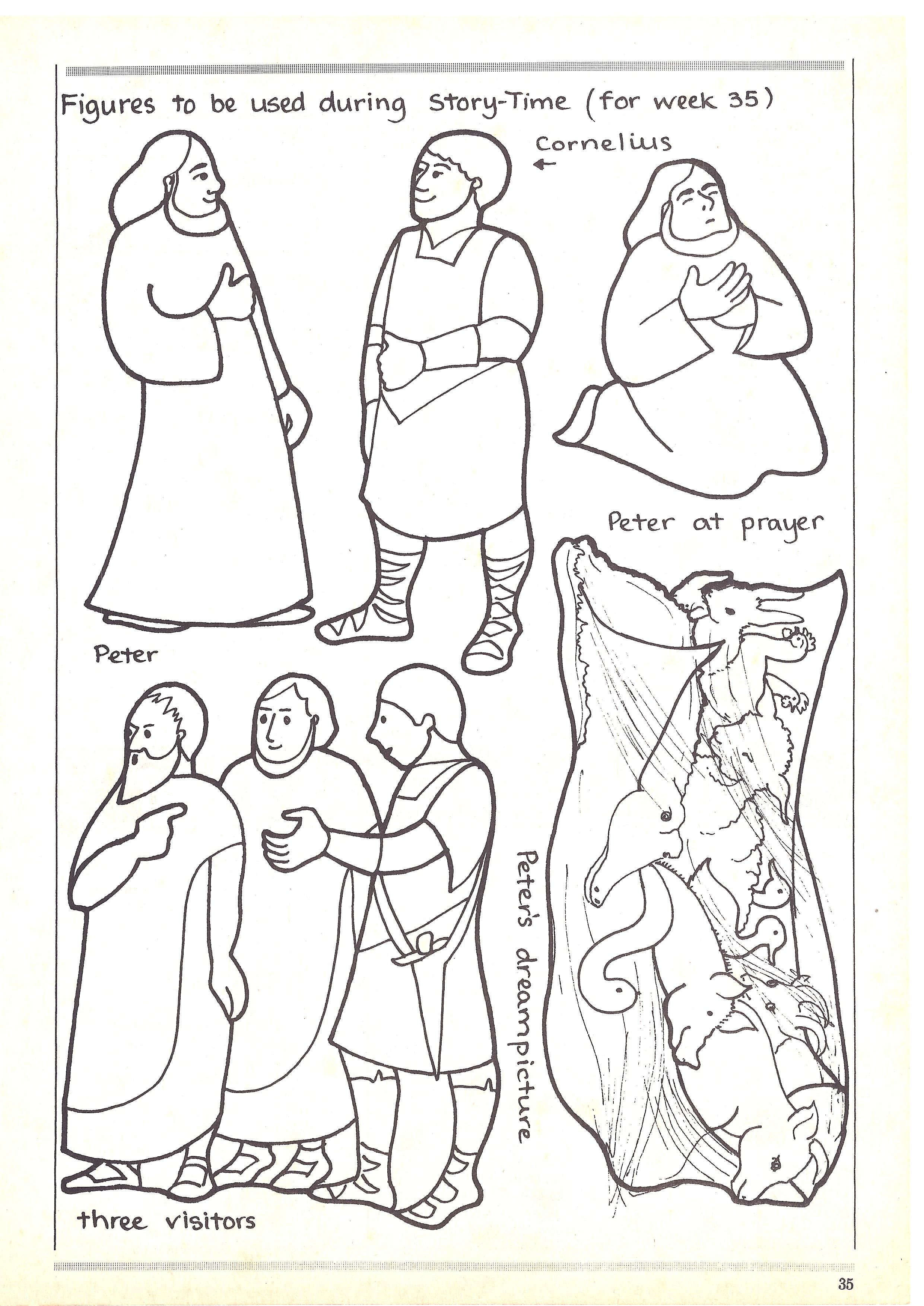 Peter And Cornelious Toddler Sunday School Bible Stories For