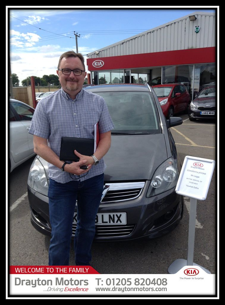 Mr Legg Collected His New Vauxhall Zafira From Vanessa Welcome