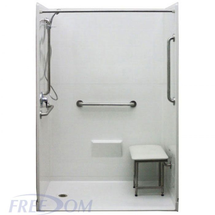 Freedom Accessible Shower Left Drain 5 Piece 54 X 31