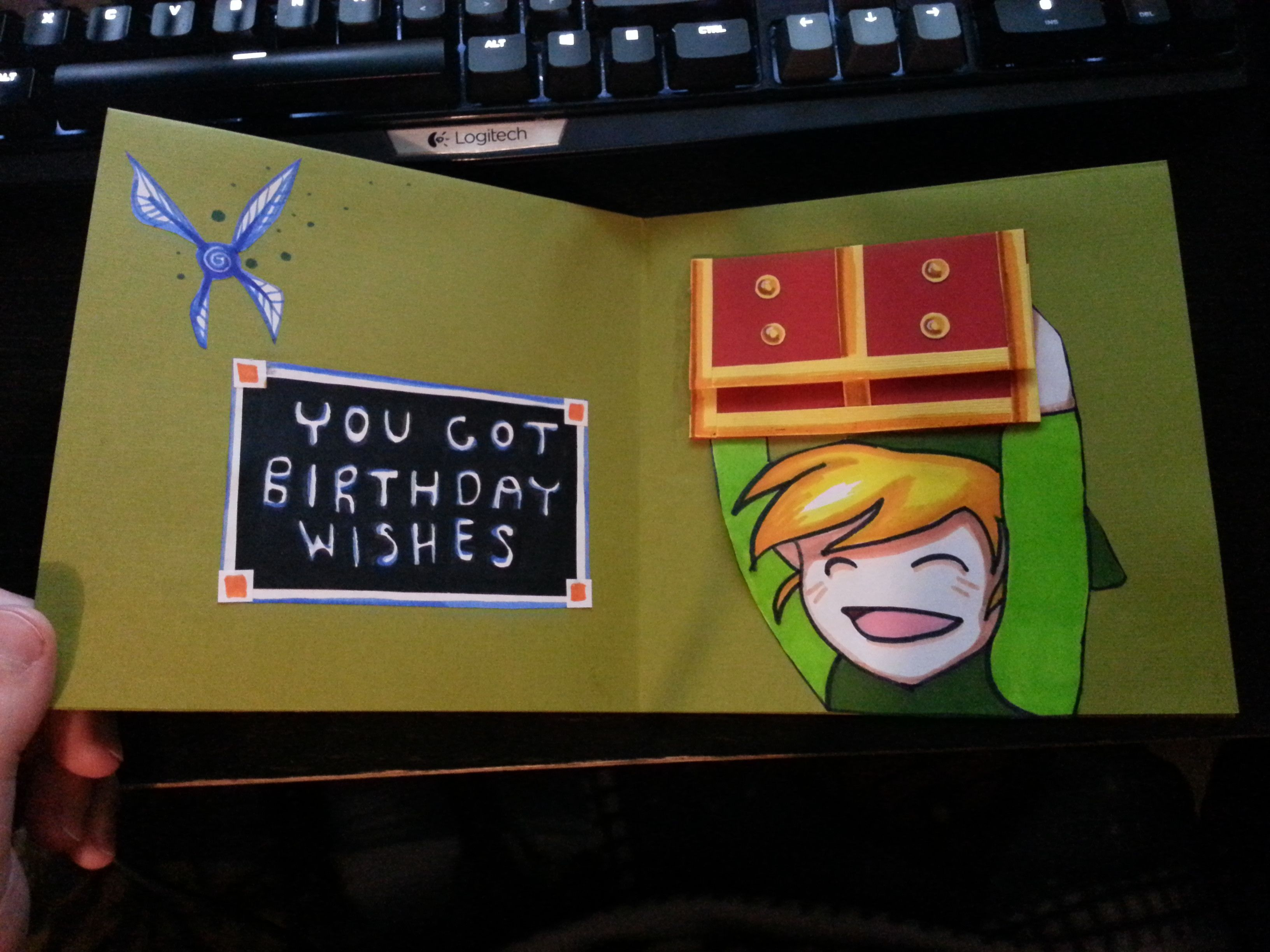 My Friend Made Me An Awesome Birthday Card!