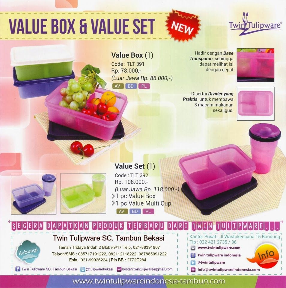 Produk Baru Twin Tulipware 2014 : Value Box & Value Set