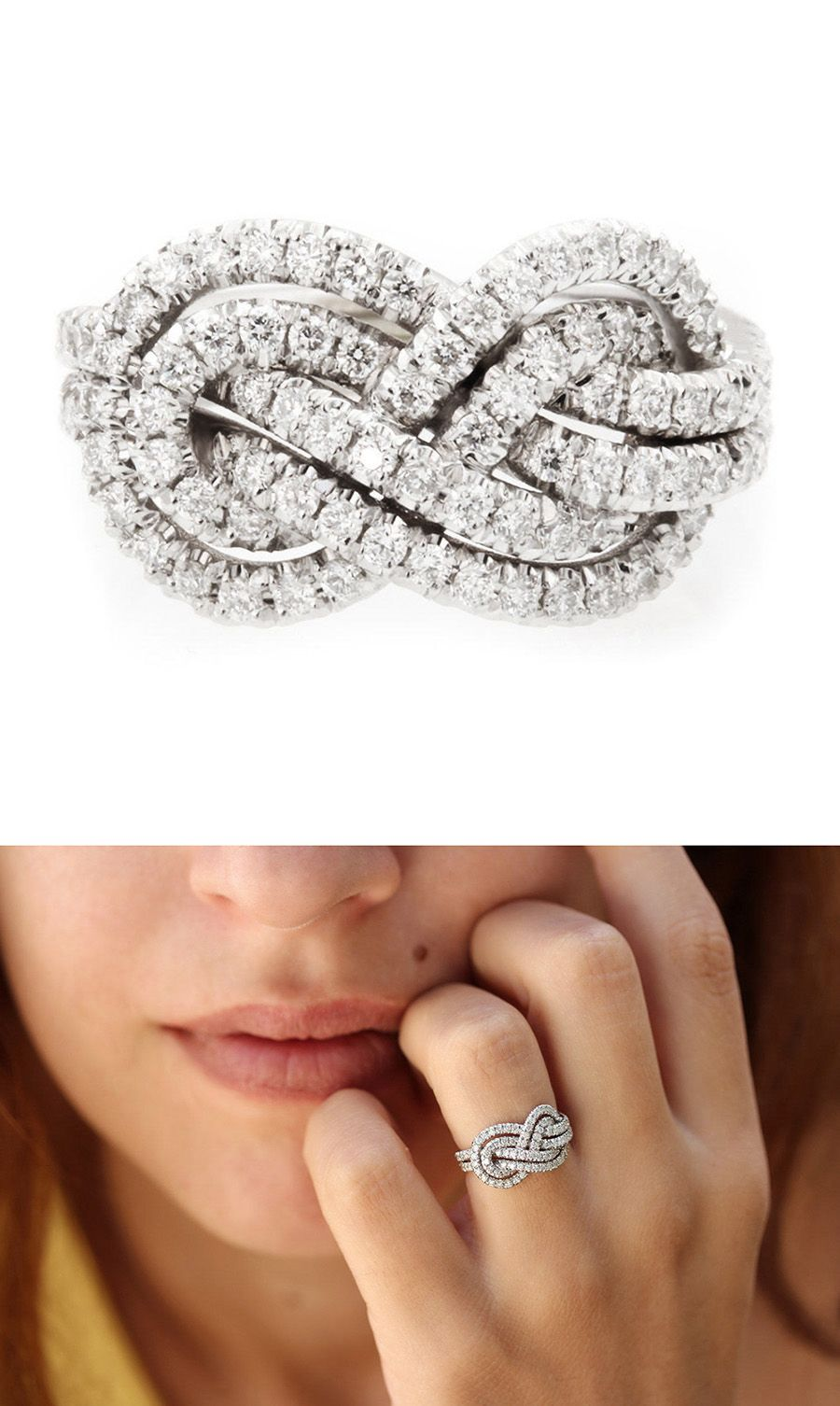 Double Infinity Knot Alternative Wedding Rings Women In Weddings Weigh On Engagement