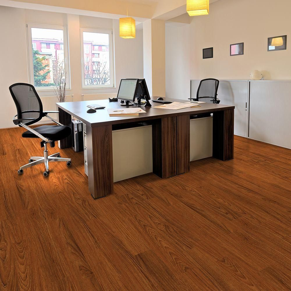 Trafficmaster Take Home Sample Allure Contract Oregon Cherry Resilient Vinyl Plank Flooring 4 In X 4 In 100938115 The Home Depot Vinyl Plank Flooring Vinyl Plank Flooring