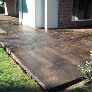 Wood tile front porch? | House ideas | Concrete patio ...